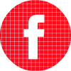 Facebook red check circle social media icon