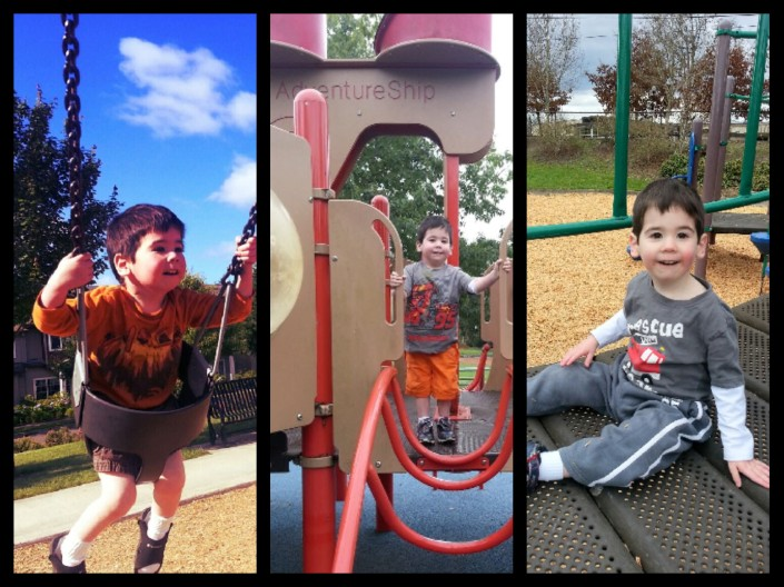Henry at the park collage