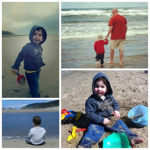 Beach photo grid